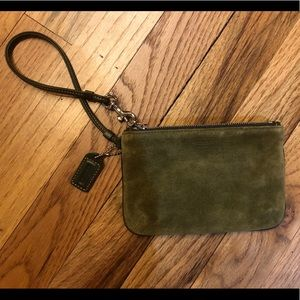 NWOT Coach Wristlet Small Olive Green